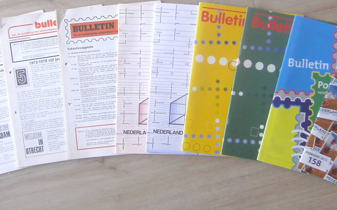 Postaumaat bulletins van 1973 tot 2019